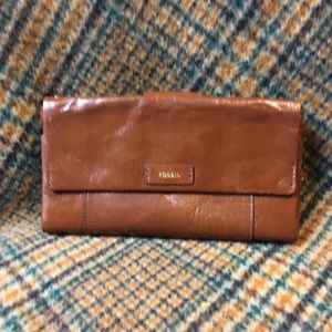 Fossil Brown Ellis Wallet Clutch